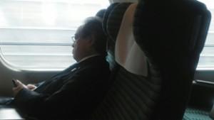 新幹線の車内の様子の写真