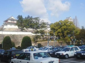 福山城と石垣の写真