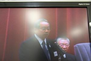 日本医師会定例代議員会で挨拶する羽生田たかしの写真