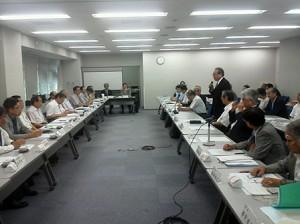 県医師会会長会議の模様の写真