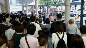下関駅前街頭演説